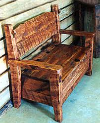 Rustic Storage Bench Rustic Barnwood Benches Bootbench Hinged Seat Storage Bench