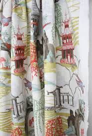 pillow fabric drapery toile dining room curtains unique curtain