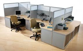 office design alternative features grey glass partition and