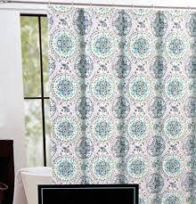 Cynthia Rowley Ruffle Shower Curtain Cynthia Rowley Fabric Shower Curtain Happy Elephant Medallion