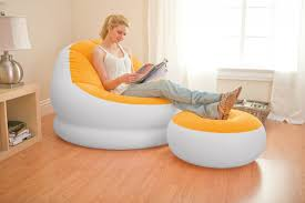 Intex Inflatable Sofa With Footrest by Intex Inflatable Cafe Chaise Chair With Optional Pump
