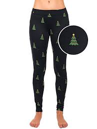 Tipsy Elves Womens Christmas Tree Leggings Holiday Pants Large at