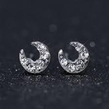 s birthstone earrings starry sky jewelry moon earrings delicate