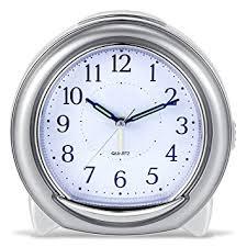 mechanical desk clock amazon com super silent desk alarm clock bonytek quartz alarm