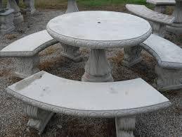 Round Concrete Patio Table Outdoor Table Set Concrete Patio Table Set 42 Round