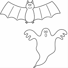 bats with bat and ghost coloring page halloween four bats skeleton
