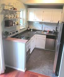 freckles cute small kitchen white cabinets backsplash