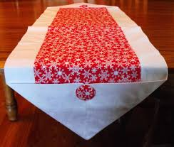 christmas table linens sale sale snowflake print christmas table runner by blessingsandbabies