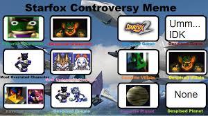 Star Fox Meme - star fox controversy meme by mysticchaosemeralds on deviantart