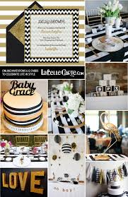 white and gold baby shower chic baby shower in black white gold online invitations decor
