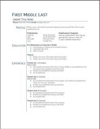 template of a resume sle resume format for fresh graduates two page format 1 1