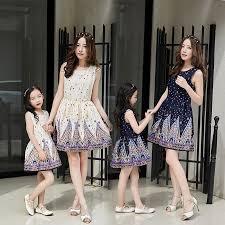 family clothing fashion matching summer dresses