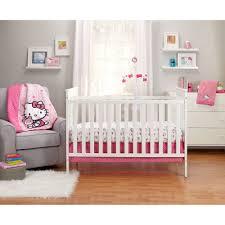 Baby Girl Nursery Bedding Set by Hello Kitty Cute As A Button 3 Piece Crib Bedding Set Walmart Com