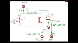 diy pc fan dc motor speed controller circuit diagram with pcb