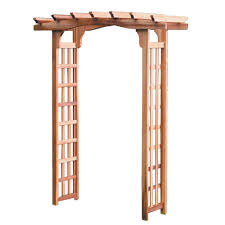 bosmere english garden 53 in x 79 in victorian wood arbor with