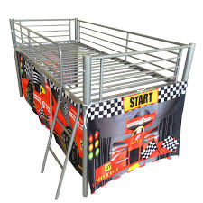 Mid Sleeper Bunk Bed Hot Sale 2016 Foxhunter Childrens Metal Mid Sleeper Cabin Bunk Bed