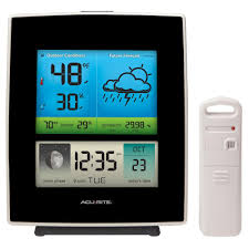 acurite rain gauge with indoor outdoor temperature 01089m the