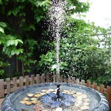 anself solar pump floating water fountain for bird bath pond sales