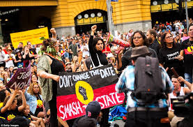 australia day protesters clash with in sydney daily mail