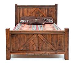 reclaimed bedroom furniture antique wood ranch style bed a