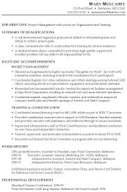 Resume Project Sample Functional Resume Project Manager In Organization And