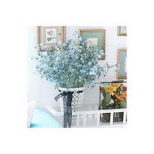 Vases With Fake Flowers Home Decor Floral Arrangements Gypsophila Silk Flowers Rattan