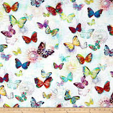 crystalia digital print butterfly opal from fabricdotcom from