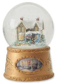 kinkade painter of light cottage musical snow
