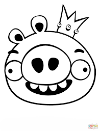 king pig coloring free printable coloring pages