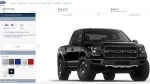 Ford Raptor Diesel - 2017 ford raptor f 150 svt build and price online