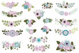 wedding flowers clipart mint violet green wedding flowers clipa design bundles