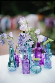 Mismatched Vases Wedding Small Blue Vase Foter