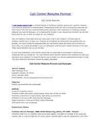 Call Center Sample Resume by Sample Resume Objectives Call Center Representative Resume
