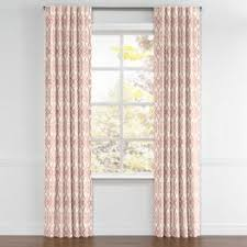 Pink Trellis Curtains Scrolled Pink Trellis Fabric Scrolling Along Shrimp Loom Decor