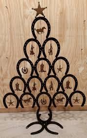 horseshoe ornaments rustic horseshoe christmas tree with ornaments rustic cowboy