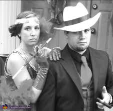 Gangster Couple Halloween Costumes 1920s Flapper Gangster Couple Halloween Costume Photo 2 2