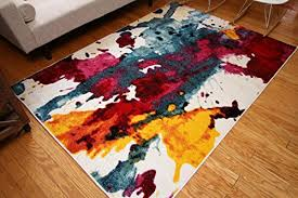 Contemporary Modern Area Rugs Radiance Ant6008 6x8 Collection Contemporary Modern Splat Wool
