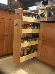 Spice Cabinet Organization Spice Cabinet Pull Out Kitchen Transitional With Hickory Hickory