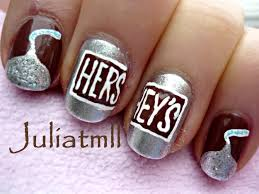 chocolate hershey u0027s kisses nail art ongles pinterest kiss