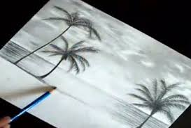 a speed drawing of a beach video lessons of drawing u0026 painting