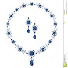 sapphire jewelry necklace images Sapphire jewelry stock vector illustration of luxurious 32339079 jpg