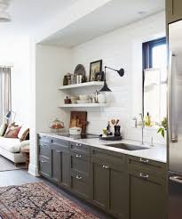 kitchens with shelves green new colors of 2017 green in the kitchenbecki owens