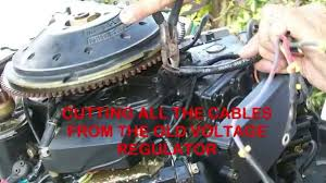 replacing the 100 voltage regulator on outboard motors with a 4
