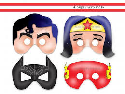 unique superheroes printable masks holidaypartystar