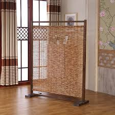 Portable Room Divider Decorative Wood Bamboo Room Divider Screen Bamboo Furniture