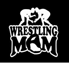 wrestling mom vinyl glitter car decal sticker from