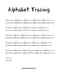 alphabet tracing lesson plan of happiness