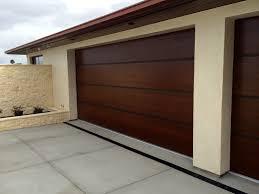 attractive cream and gray house exterior paint idea with garage smart idea of modern garage doors in sliding design made wooden best material dark brown