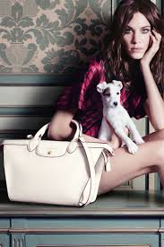 trend models posing with animals in fashion shoots longchamp