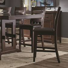 coaster holbrook rectangular counter height dining set antique